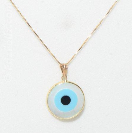 8bc8f01657192 Início · Pingentes  Pingente olho grego em ouro 18k - Ref 12670