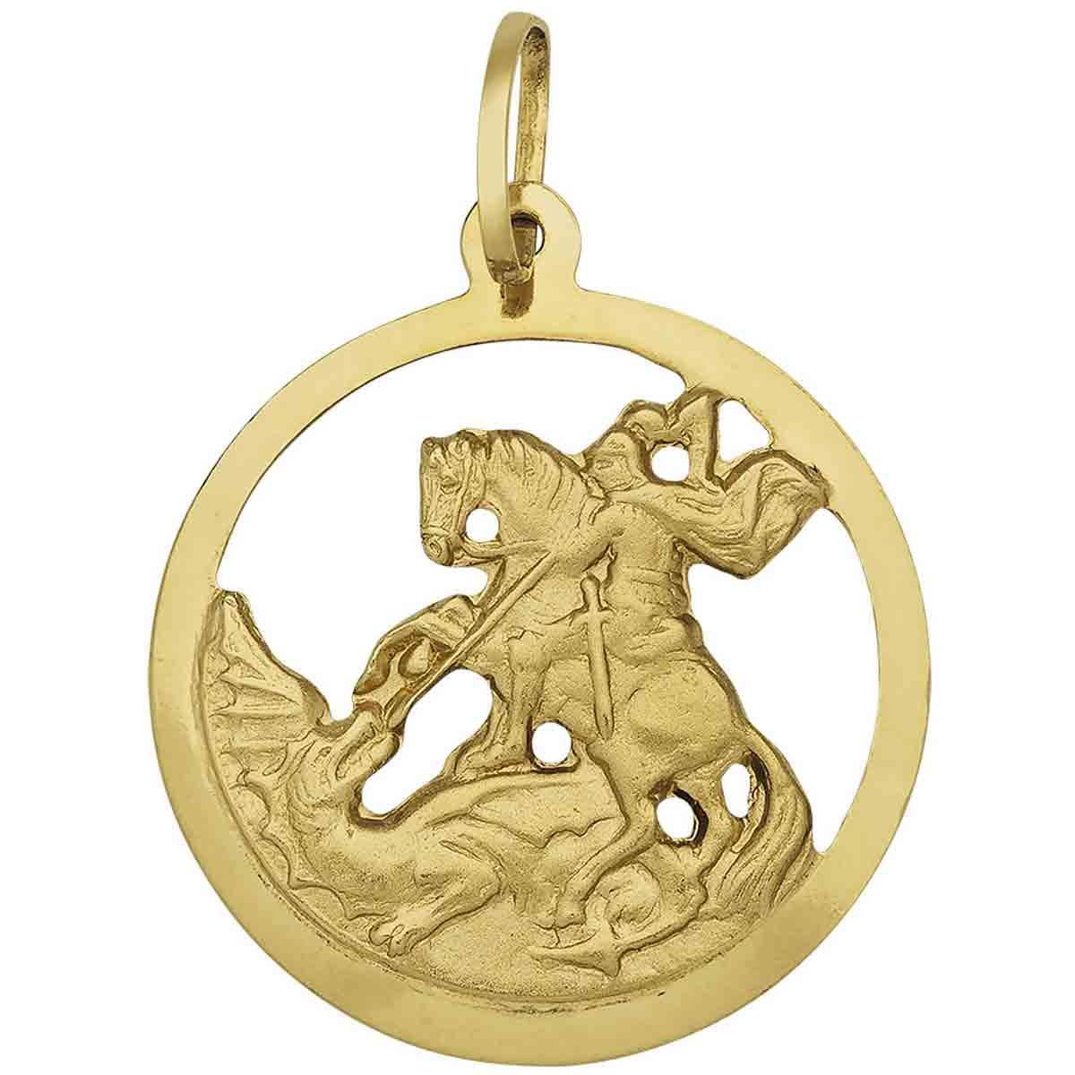 Início · Pingentes  Pingente São Jorge ouro 18 k - REF  25900 9e1e20de46