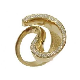 Anel em ouro 18k Spiral - Ref:AN 049